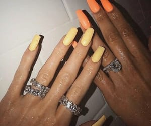 nails, rings, and orange image