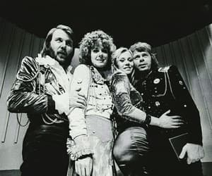 70's, Abba, and black and white image