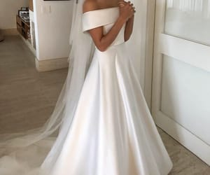 dresses, lovely, and wedding image