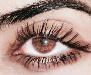 eyes, brown, and girl image