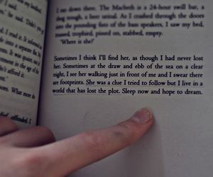 book, Dream, and finger image