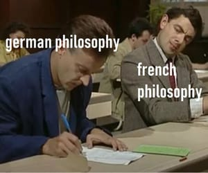 cheating, philosophy, and mr bean image
