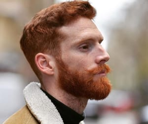 beard, ginger, and male image