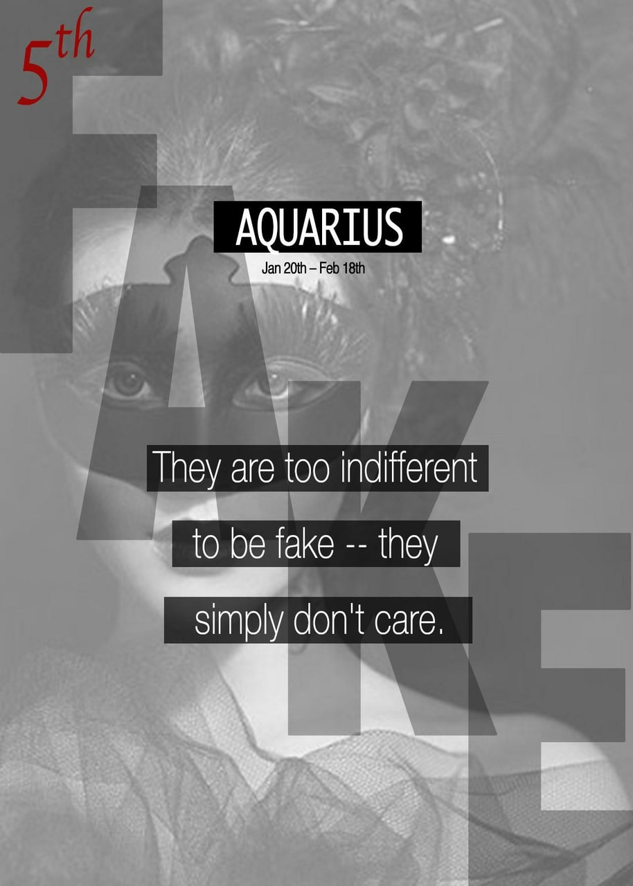 Aquarius why fake are so How The