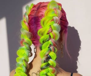 greenhair, coloredhair, and neonhair image