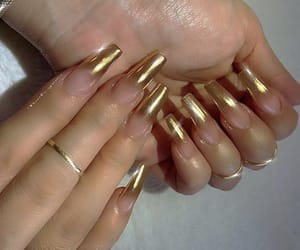 nails, gold, and aesthetic image