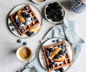 blueberry, breakfast, and coffee image