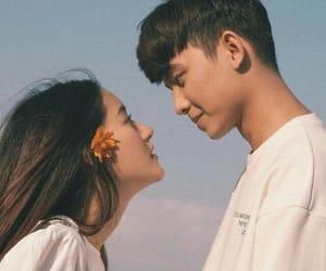 couple, sky, and lové image