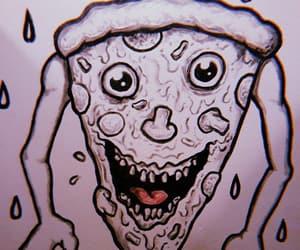 aesthetic, pizza, and bathroom art image