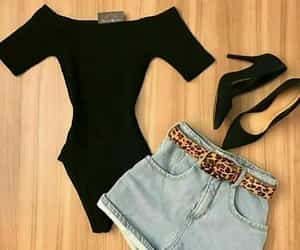 bodysuit, fashion, and highheels image