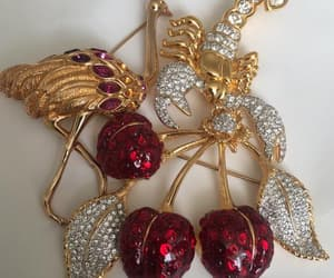 etsy, vintage, and gold brooch image