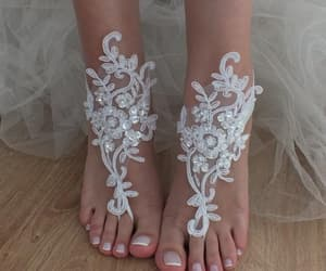 country wedding, beach shoes, and bridal accessories image