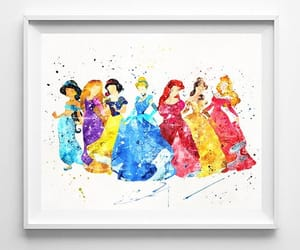 ariel, rapunzel, and snow white image