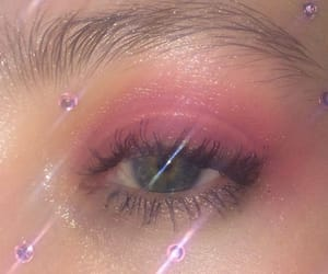 pink, eye, and eyeshadow image