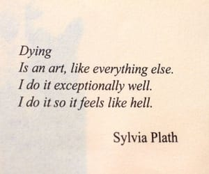 quotes, sylvia plath, and art image
