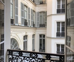 balcony, hotel, and paris image