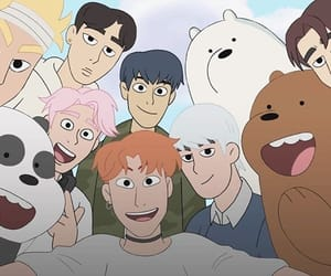 monsta x, we bare bears, and ice bear image