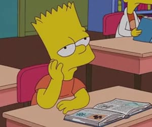 bart simpson, class, and boring image