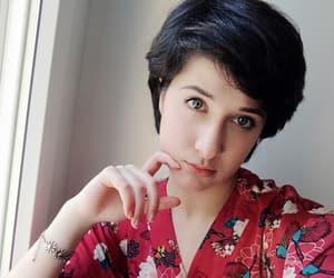 dark hair, girl, and kimono image