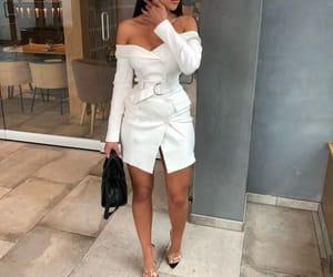 dress, robe, and white image