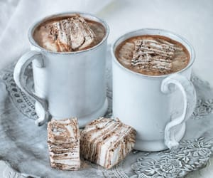 food, marshmallows, and sweet image