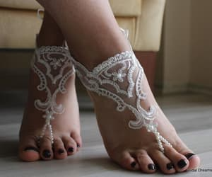 etsy, women shoes, and bridal anklet image