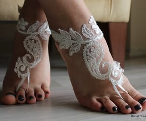 etsy, bridal anklet, and wedding shoes image