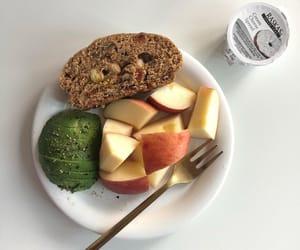 apple, avocado, and bread image