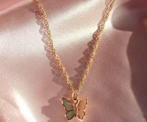 gold, butterfly, and necklace image