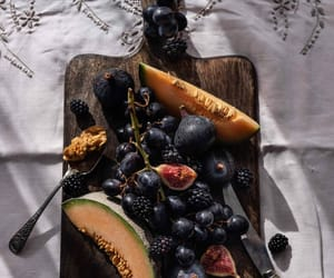 blackberries, blueberries, and cantaloupe image