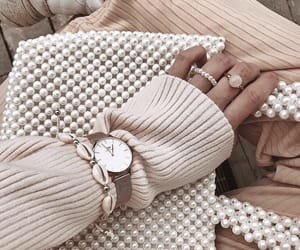fashion, pearls, and rings image