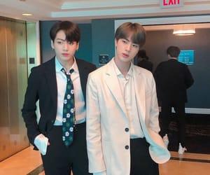jin, seokjin, and kookie image