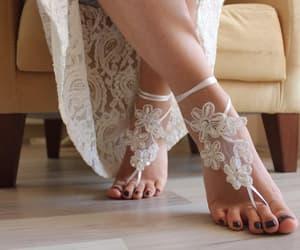 etsy, barefootsandals, and wedding anklets image