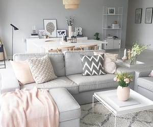 home, grey, and pink image