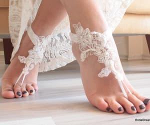 etsy, bridal anklet, and barefoot wedding image