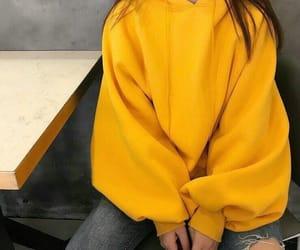 yellow, girl, and style image