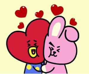 tata, bts, and cooky image