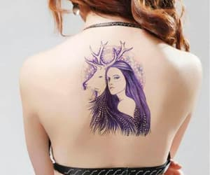 deer, tattoo, and girl image