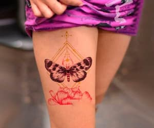 butterfly, tattoo, and temporary image