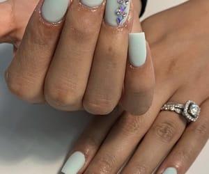 aqua blue, mint, and nails image
