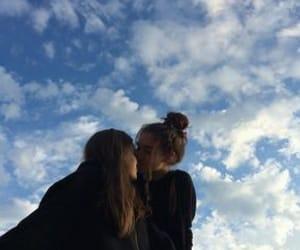 lesbian, girl, and kiss image