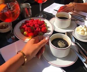 coffee, food, and strawberry image