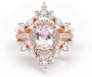 etsy, diamond wedding set, and uniqueengagement image