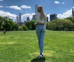 blonde, levis 501, and Central Park image
