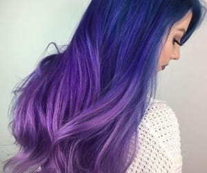 blue ombre hair style image