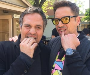 mark ruffalo, Marvel, and robert downey jr image