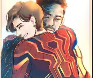 Marvel, tony stark, and peter parker image