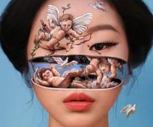 art, makeup, and angel image