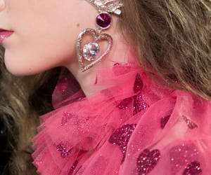 fashion, earring, and pink image