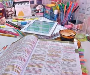 desk, homework, and school image